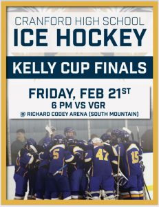 Cranford HS vs VGR in Kelly Cup Ice Hockey Finals @ Richard Codey Arena | West Orange | New Jersey | United States