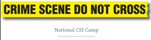 Crime Scene Investigation Class for Students @ Cranford Recreation Department