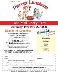 Pierogi Luncheon and Mini Tricky Tray @ Knights of Columbus | Garwood | New Jersey | United States
