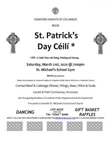 St. Patrick's Day Dance @ St. Michael's School Gym | Cranford | New Jersey | United States