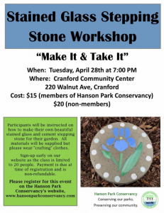 Stained Glass Stepping Stone Workshop @ Cranford Community Center