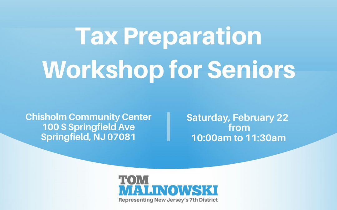 Tax Preparation Workshop for Seniors