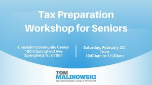 Tax Preparation Workshop for Seniors @ Chisholm Community Center