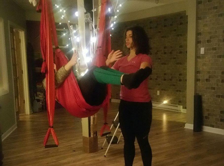 Flying Wellness Pop Up Trapeze Yoga Demonstration