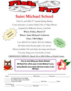 SAINT MICHAEL SCHOOL FISH FRY & SPRING MARKET @ Saint Michael School | Cranford | New Jersey | United States