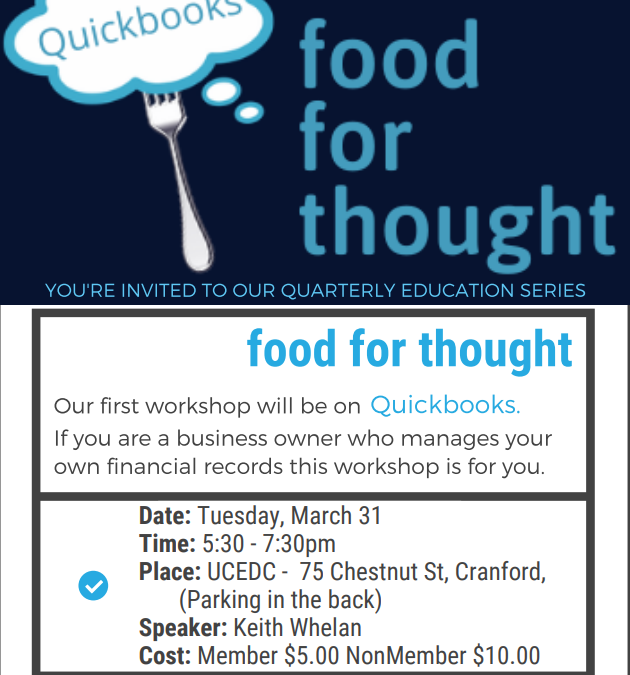 Cranford Chamber food for thought Education Series: Quickbooks