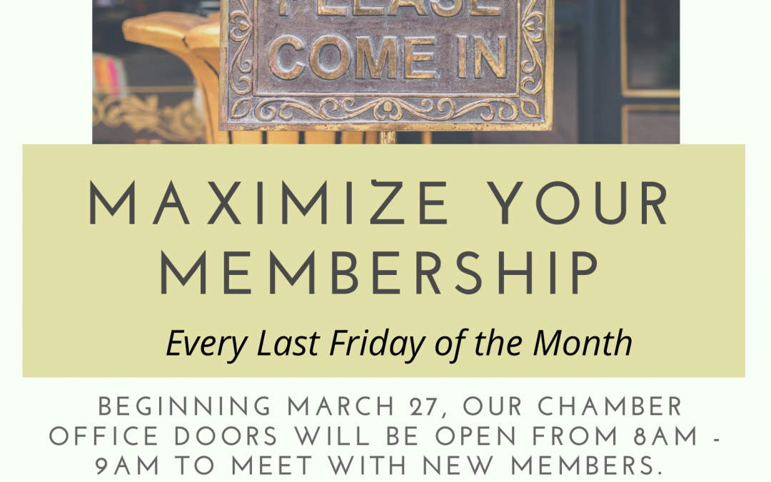 Cranford Chamber Maximize Your Membership in the Chamber Office.