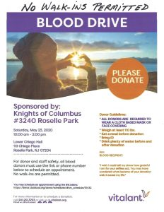 BloodDrive - By Appointment Only - No Walk-ins Please @ Church of the Assumption | Roselle Park | New Jersey | United States