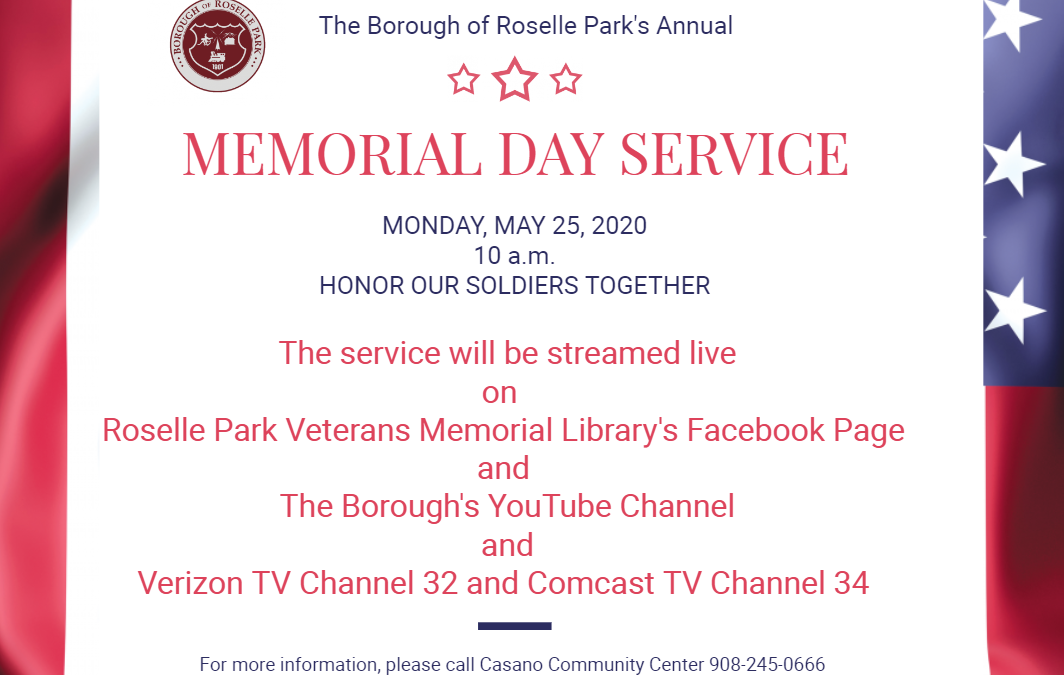 The Borough of Roselle Park Annual Memorial Day Service