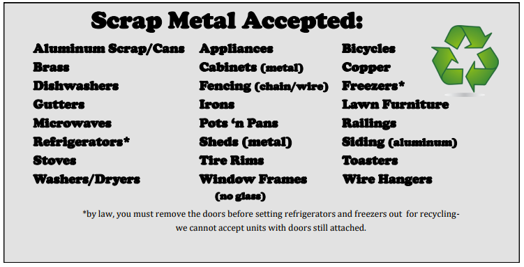 Scrap Metal Recycling Event