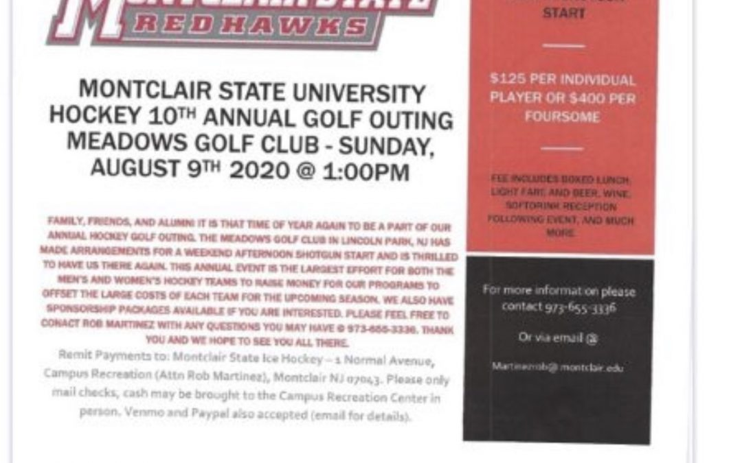 10th Annual Montclair State University Ice Hockey Golf Outing