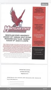 10th Annual Montclair State University Ice Hockey Golf Outing @ MEADOWS GOLF CLUB