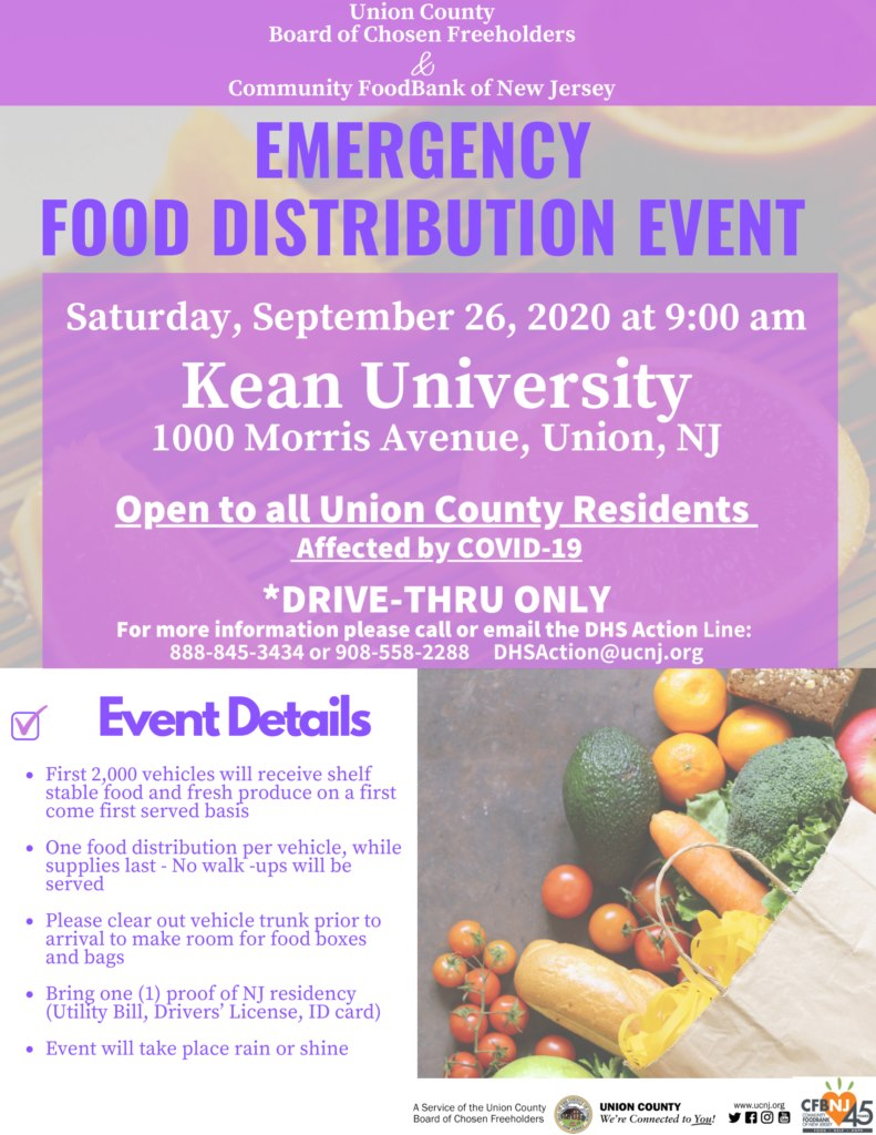Emergency Food Distribution Event @ Kean University