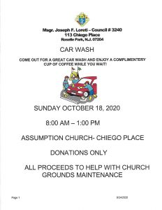 Knights of Columbus Car Wash @ Church of the Assumption