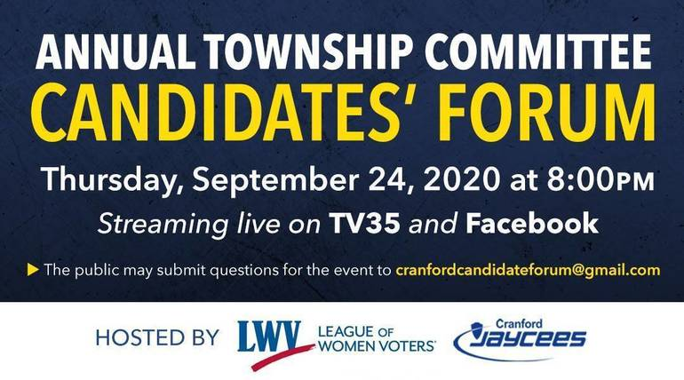 Annual Cranford Township Committee CandidatesForum