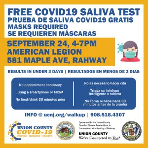 Free COVID-19 Walk-up Test @ American Legion