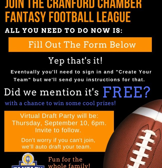 Play Fantasy Football Free with the Cranford Area Chamber of Commerce!