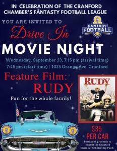 Drive In Movie Night featuring: Rudy! @ Orange Avenue Pool