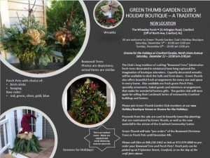 Green Thumb Garden Club's Holiday Boutique @ The Wheatley's Front Porch