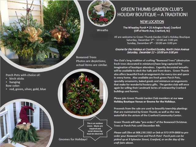 Green Thumb Garden Club's Holiday Boutique