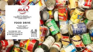 Thanksgiving Food Drive for Cranford Family Care @ The MAX Challenge of Cranford