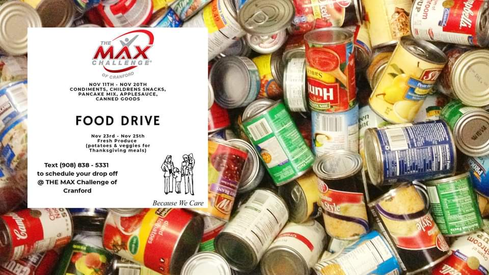 Thanksgiving Food Drive for Cranford Family Care