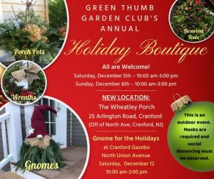 Green Thumb Garden Club Holiday Boutique @ The Wheatley Porch