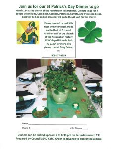 Annual St. Pat's Dinner @ Church of the Assumption
