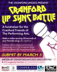 Cranford Jaycees Lip Sync Battle Submissions Due @ Virtual