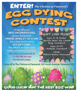 The Chelsea at Fanwood Easter Egg Dying Contest @ The Chelsea at Fanwood