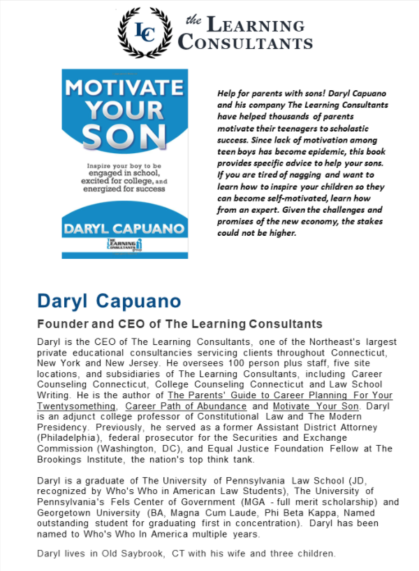 The Learning Consultants-Virtual Event-Motivate Your Son-Academic and Vocational @ Virtual