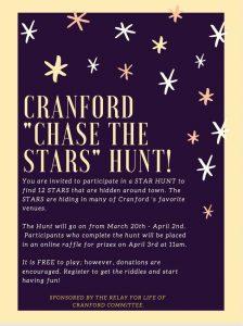 """FAMILY """"CHASE THE STARS"""" QR CODE SCAVENGER HUNT @ Cranford"""