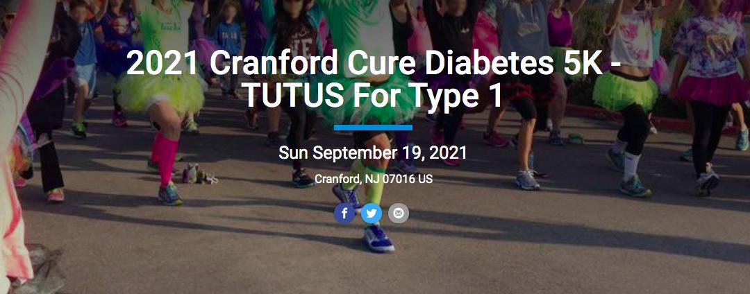 2021 Cranford Cure Diabetes 5K – TUTUS For Type 1