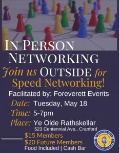 "Cranford Chamber ""Outside"" Speed Networking Event @ Ye Olde Rathskeller"