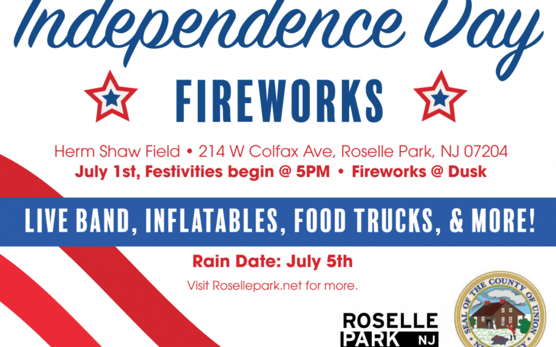 Independence Day Fireworks in Roselle Park