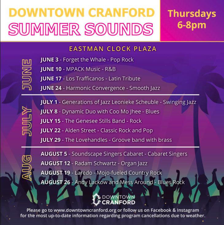Summer Sounds Thursday @ Eastman Clock Plaza
