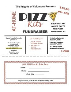 Knights of Columbus At-Home Pizza Kits Last Day To Order