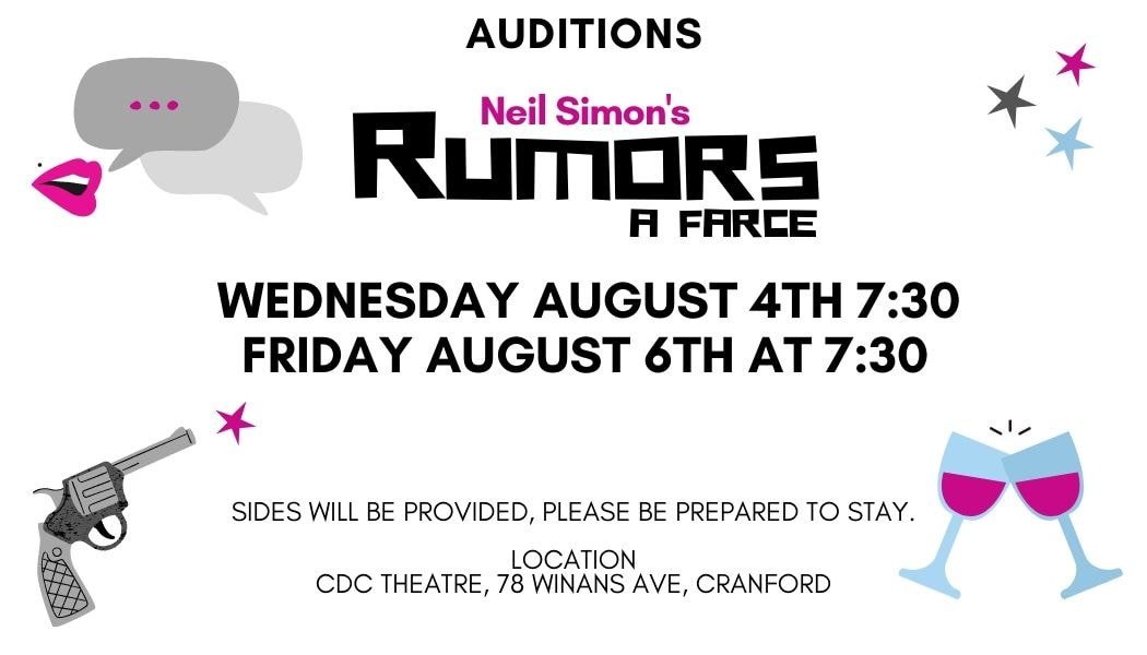Rumors by Neil Simon Auditions at the CDC Theater @ CDC Theater