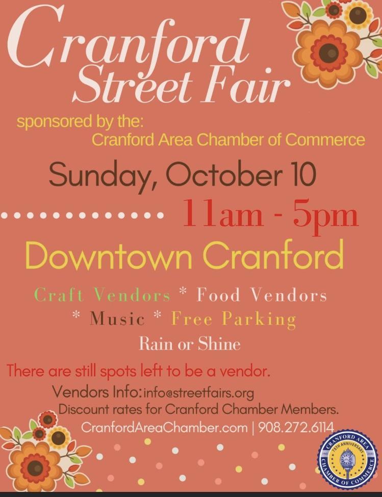 Cranford Street Fair @ Downtown Cranford